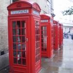 telefooncellen in Londen