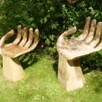 beeldentuin De Gouwkamp Den Ilp handenstoeltjes