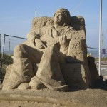 zandsculptuur Alain Clark Zandvoort