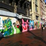 straatkunst Damrak 1