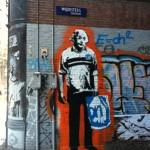 straatkunst Spuistraat en Wijdesteeg Albert Heijnstein
