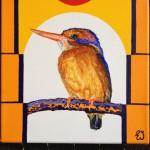 schilderij ijsvogeltje Eline Vulsma