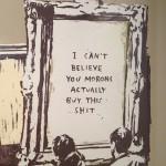 Banksy expositie Lionel Gallery Morons detail