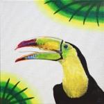 schilderij Toekan door Eline Vulsma